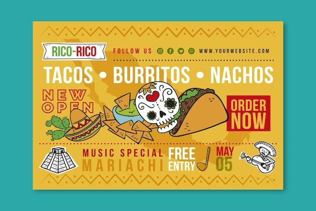 Banner di cibo messicano
