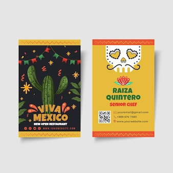 Modello di biglietto da visita di cibo messicano
