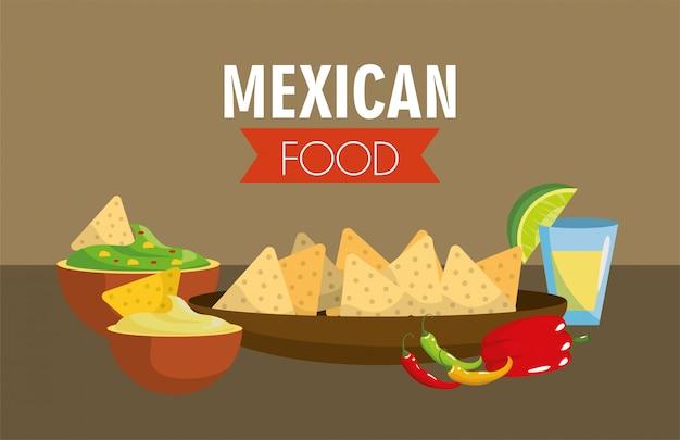 Cibo messicano con peperoncino piccante