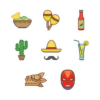 Collezione di icone messicane
