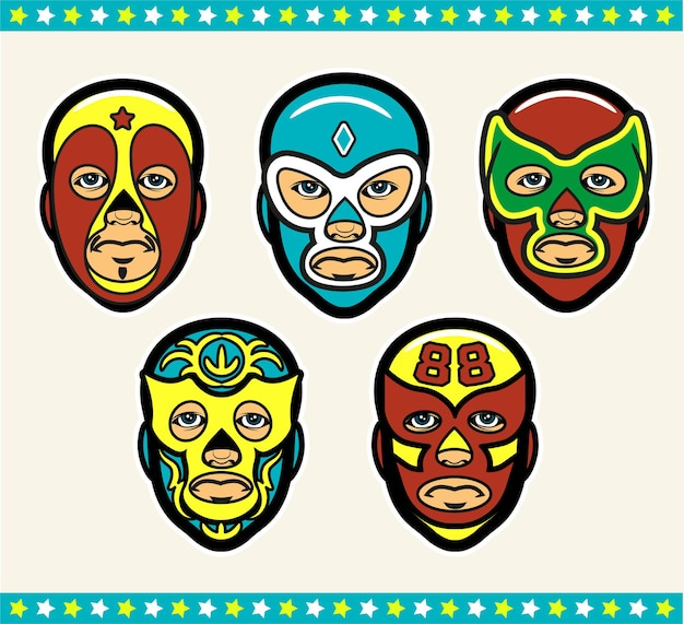 Maschere di wrestling lucha libre messicane