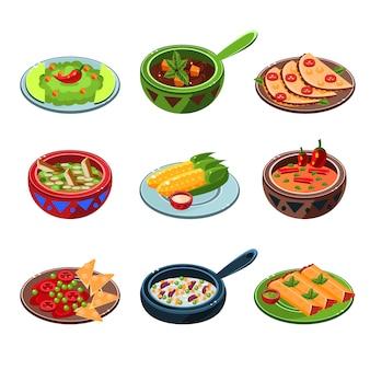 Set di cibo nazionale messicano