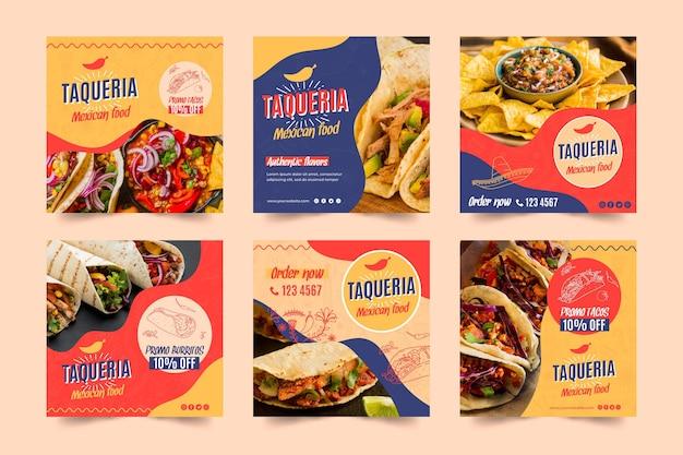 Post di instagram del ristorante messicano