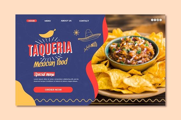 Pagina di destinazione del ristorante messicano