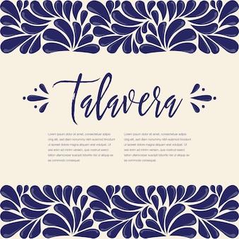 Pittura talavera messicana - copia spazio composizione