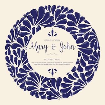 Pittura messicana di talavera - invito a nozze