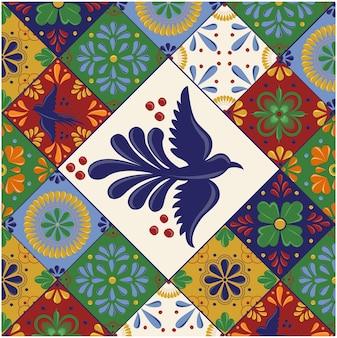 Modello di piastrelle messicane talavera