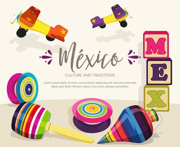 Giocattoli di legno tradizionali messicani