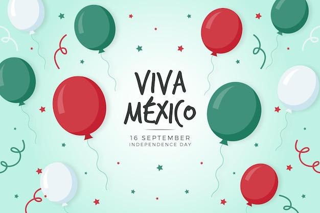 Guerra d'indipendenza messicana sfondo con palloncini