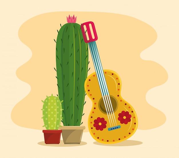 Messico e cactus succulento