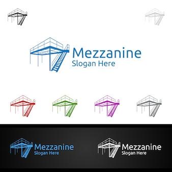 Mezzanine flooring logo per parquet in legno o vinile