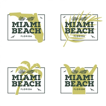 Miami beach florida. illustrazione vettoriale vintage