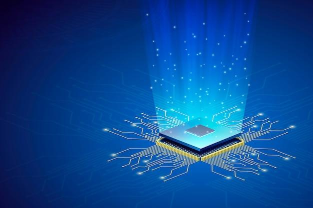 Sfondo del processore microchip