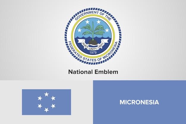 Modello di bandiera dell'emblema nazionale della micronesia