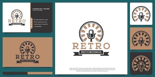 Logo del microfono con stile classico moderno