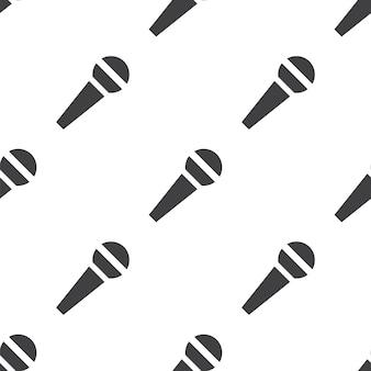 Microfono, motivo vettoriale senza soluzione di continuità, modificabile può essere utilizzato per sfondi di pagine web, riempimenti a motivo