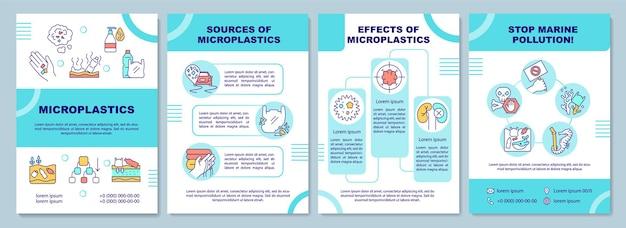 Modello di volantino di microplastiche. fonte di microplastiche.