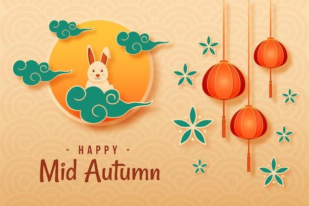 Festa di metà autunno in stile cartaceo