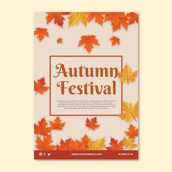 Modello di volantino di metà autunno