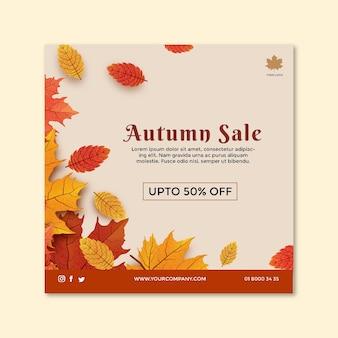 Modello di volantino quadrato di metà autunno