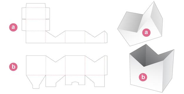 Confezione centrale smussata con coperchio modello fustellato