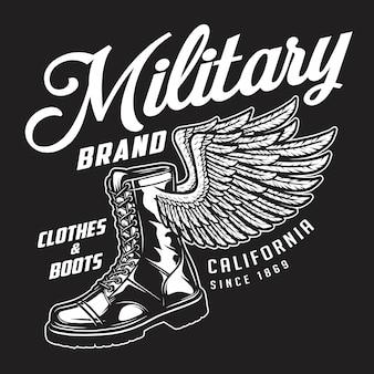 Emblema del marchio di abbigliamento militare