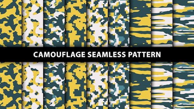 Modello senza cuciture mimetico militare ed militare