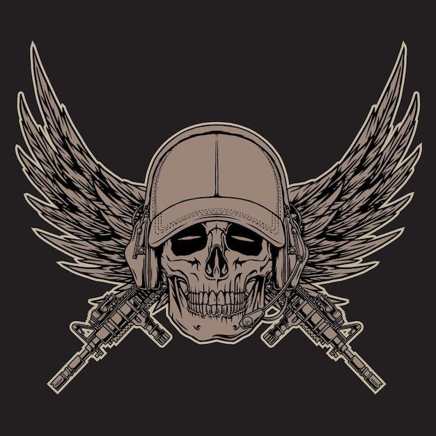 Logo militare nel buio beground