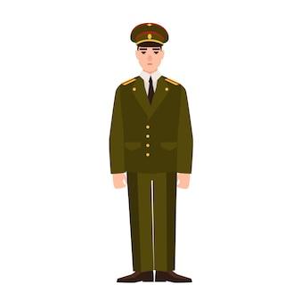 Militare della forza armata russa che indossa l'uniforme. fante o militare