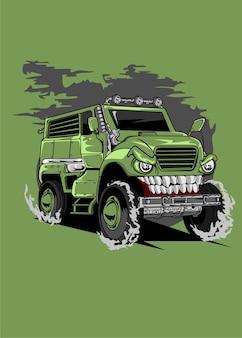 Automobile militare del mostro