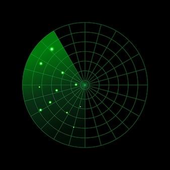 Illustrazione di concetto di radar militare