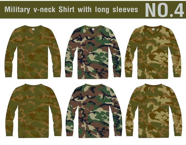 Camicia militare a maniche lunghe.