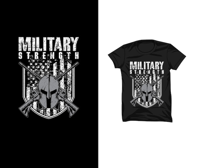 Design della maglietta di forza militare