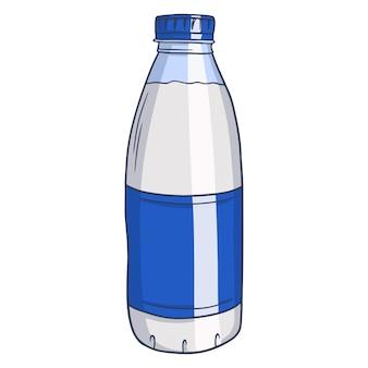 Bottiglia di latte. latticini. latte fresco. prodotti della fattoria. illustrazione vettoriale in stile cartone animato per il design e la decorazione.
