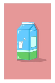 Illustrazione vettoriale di scatola del latte