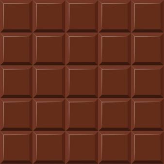 Modello senza cuciture di barretta di cioccolato al latte