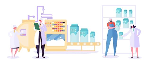 Raccolta della linea di industria di produzione agricola del latte