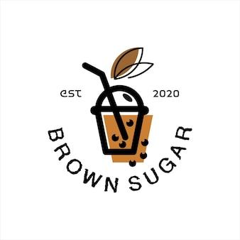 Frappè tè logo design vector