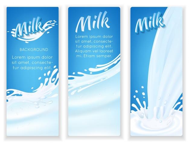 Bandiere a spruzzo di latte