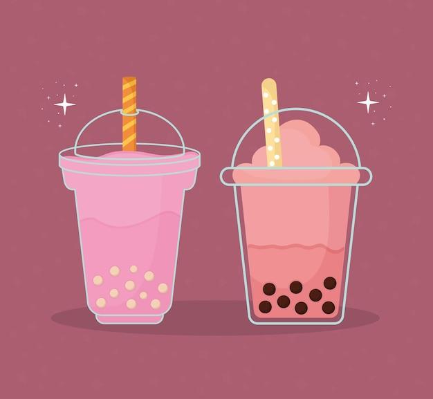 Milkshake e bevanda taiwanese asiatica