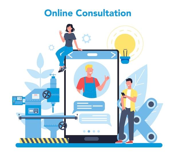 Miller e servizio online di fresatura o piattaforma per la consultazione