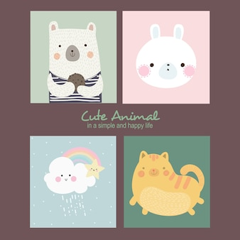 Millie cute animals illustration