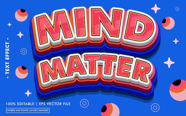 Stile effetto testo mind matter