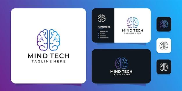 Logo del cervello della tecnologia della mente