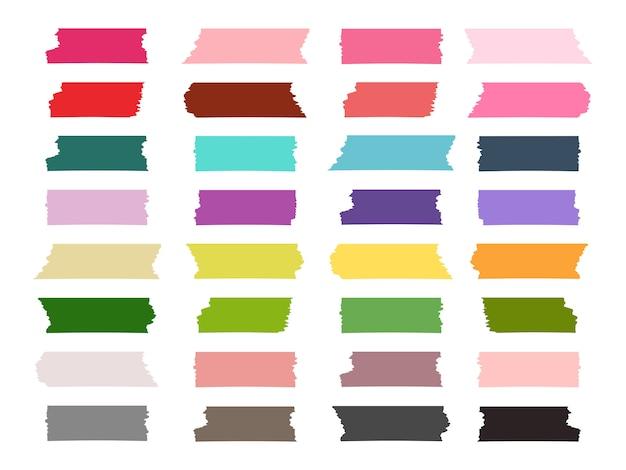 Mini strisce washi colorate collezione colorata
