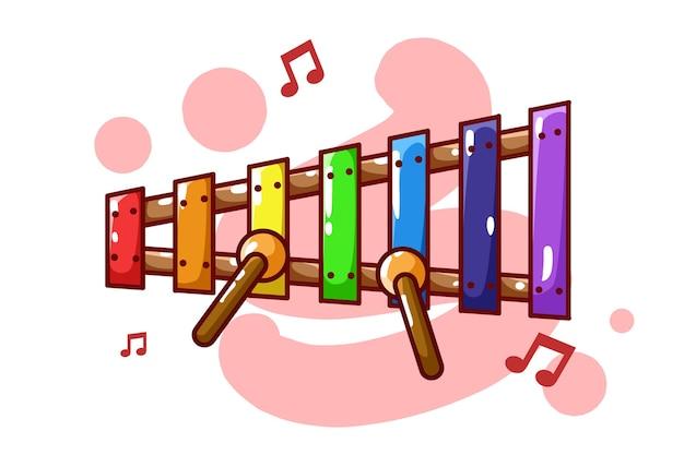 Mini xilofono con note musicali