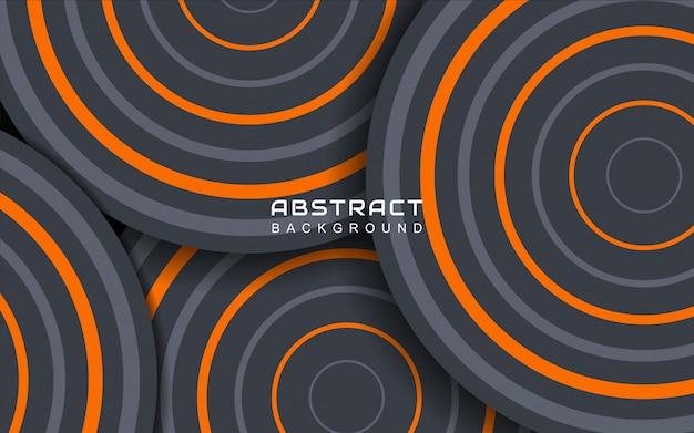 Fondo geometrico astratto minimo con linea a strisce arancioni