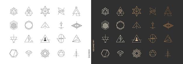 Collezione di simboli geometrici astratti minimi