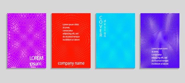 Modello di progettazione di copertina di mezzitoni di vettore astratto minimo. sfondo sfumato geometrico futuro. modelli vettoriali per cartelloni, banner, volantini, presentazioni e report