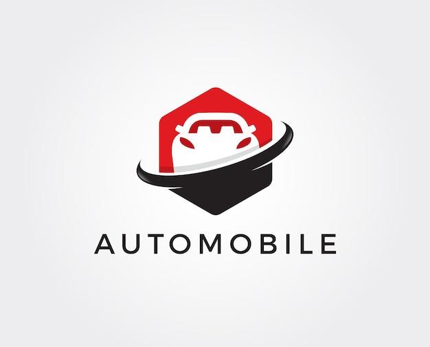 Modello di logo automobilistico minimo